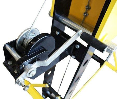 44358878 Prasa hydrauliczna, pneumatyka, ruchomy tłok, regulowany stół (siła nacisku: 100 T)