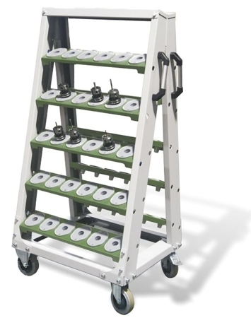 00853983 Wózek do opraw narzędziowych ISO, 60 gniazd (wymiary: 1424x782x620 mm)