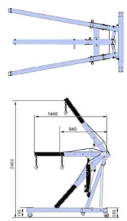DOSTAWA GRATIS! 00546296 Wycięgnik z hakiem (udźwig: 500-2000 kg)