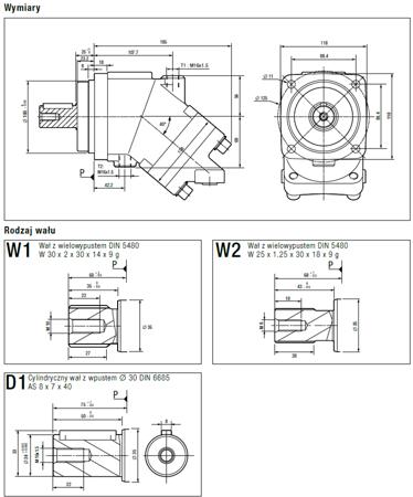 DOSTAWA GRATIS! 01538897 Silnik hydrauliczny tłoczkowy Hydro Leduc (objętość robocza: 41 cm³, maksymalna prędkość ciągła: 5600 min-1 /obr/min)