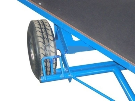 DOSTAWA GRATIS! 13340567 Wózek platformowy ręczny (koła: pneumatyczne 300 mm, nośność: 1500 kg, wymiary: 1000x2000 mm)