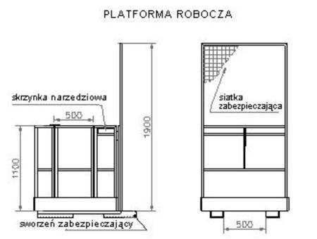 DOSTAWA GRATIS! 2903588 Platforma robocza PR120 (wymiary: 1200 x 1200 x 1800 mm)