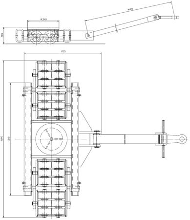 DOSTAWA GRATIS! 4994005 Podwozie transportowe (nośność: 60T)