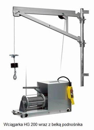 DOSTAWA GRATIS! 55547205 Wciągarka budowlana linowa elektryczna - 5 prędk. pracy, montowana do podłoża z belką (udźwig: 200 kg, długość liny: 50-100m)