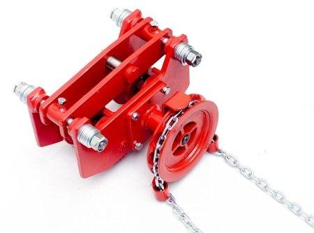 DOSTAWA GRATIS! 9588169 Wózek szynowy do wciągników przejezdnych (udźwig: 1,5 T, wysokość podnoszenia: 3m, zakres toru jezdnego: 66-106 mm)
