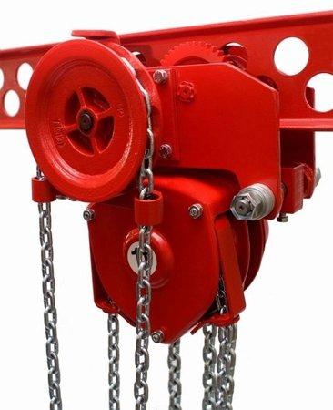 DOSTAWA GRATIS! 9588173 Wózek szynowy do wciągników przejezdnych (udźwig: 8,0 T, wysokość podnoszenia: 3m, zakres toru jezdnego: 143-200 mm)