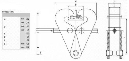 DOSTAWA GRATIS! 9588176 Zawiesie klamrowe do wciągników (udźwig: 3,2 T)