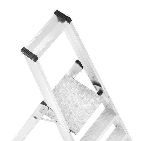 DOSTAWA GRATIS! 99675100 Drabina montażowa jednostronna ALOSS z dwoma kółkami (wysokość robocza: 4,12m)