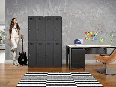 Gorek Szafa szafka bhp socjalna ubraniowa 4 komory (wymiary: 1800x600x500 mm) 09276044