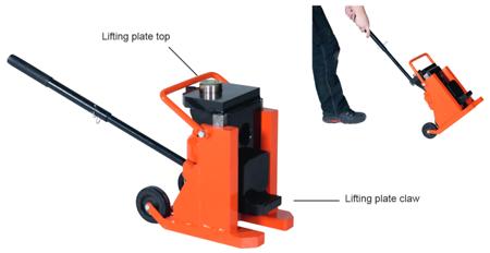 Podnośnik hydrauliczny pazurowy przesuwny GermanTech (udźwig: 12 lub 15 T) 99724875