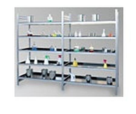Regał ocynkowany zaczepowy na chemikalia, 4 półki (wymiary: 2000x1000x600 mm) 77156825