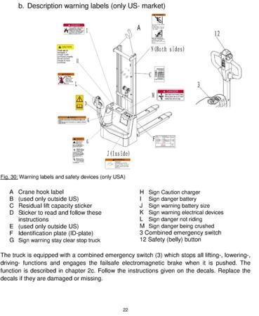SWARK Wózek paletowy elektryczny GermanTech (udźwig: 1000 kg, długość wideł: 1150 mm, wysokość podnoszenia: 2900 mm) 99746694