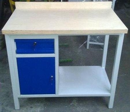 Stół warsztatowy, 1 szuflada, 1 szafka (wymiary: 1000x600x900 mm) 77156941