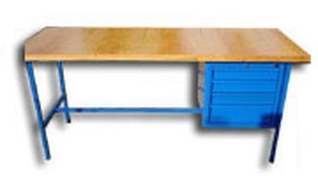 Stół warsztatowy, 4 szuflady (wymiary: 1500x750x900 mm) 77156840