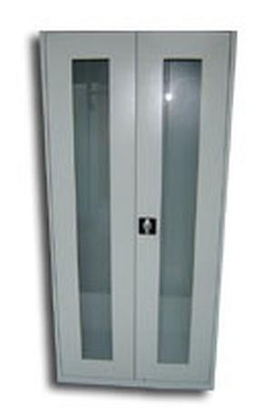 Szafa biurowa przeszklona, 2 drzwi, 5 półek (wymiary: 1800x970x460 mm) 77157066