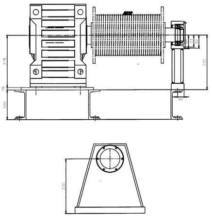 Treton 28850137 Elektryczna wciągarka linowa (siła uciągu: 4000/5500 kg)