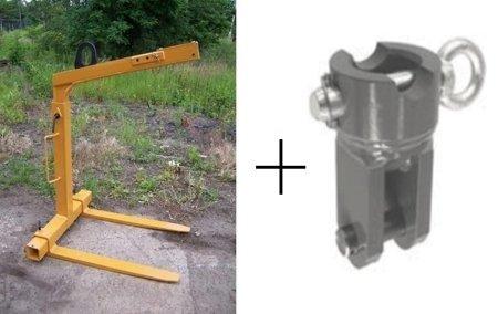 Widły do palet z uchwytem samopoziomującym + łącznik między widłami a rotatorem (udźwig: 2000 kg) 29046738