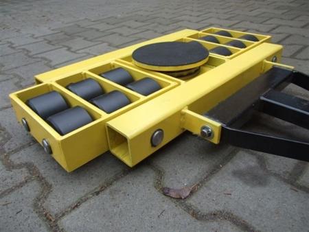 Wózek skrętny 12 rolkowy, rolki: 12x nylon (nośność: 8 T) 12235605