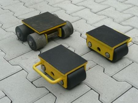 Zestaw wózków, rolki: 8x kompozyt (nośność: 10 T) 12235616